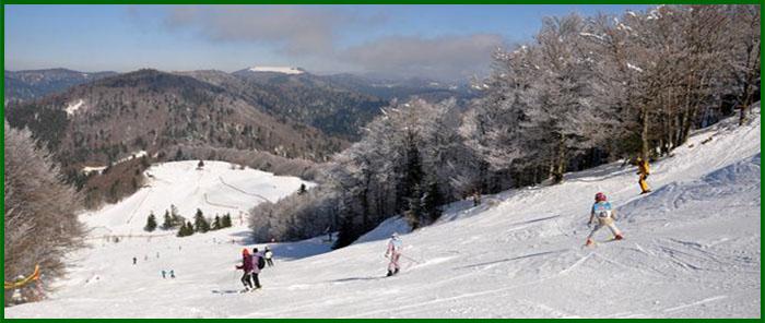 Le Creux wintersport La Planche des belles filles Vogezen
