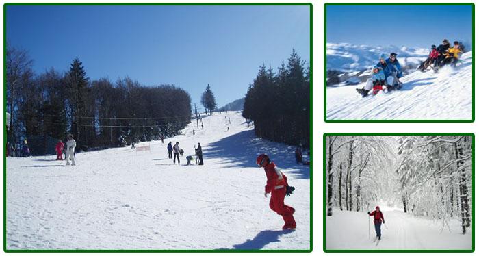 Le Creux wintersport skien Vogezen