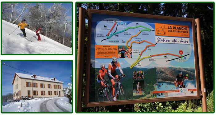Gites Le Creux skien wintersport Vogezen